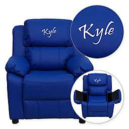 Flash Furniture Vinyl Kids Recliner in Blue