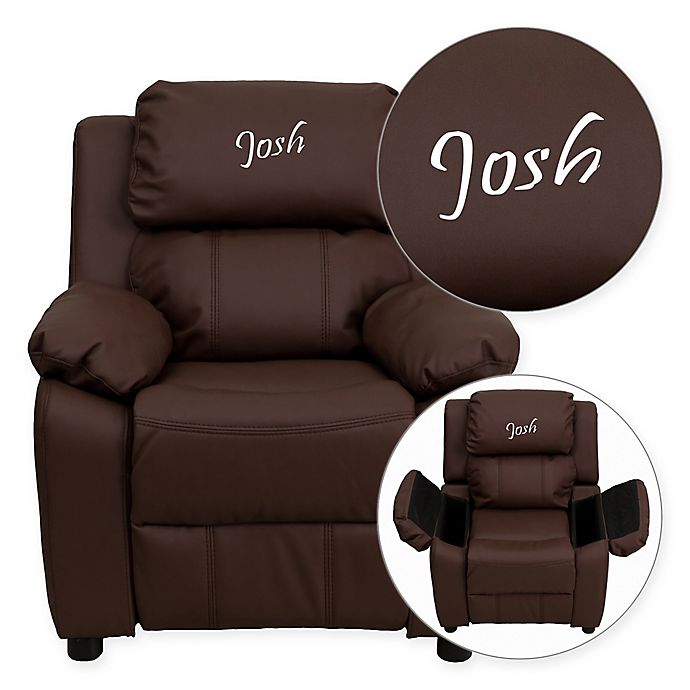 Alternate image 1 for Flash Furniture Personalized Kids Recliner