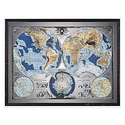 Uttermost Mirrored World Map Wall Art