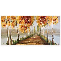 Gold Tree Canvas 60-Inch x 30-Inch Framed Wall Art