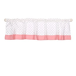The Peanutshell™  Elephant Window Valance in Coral/Grey