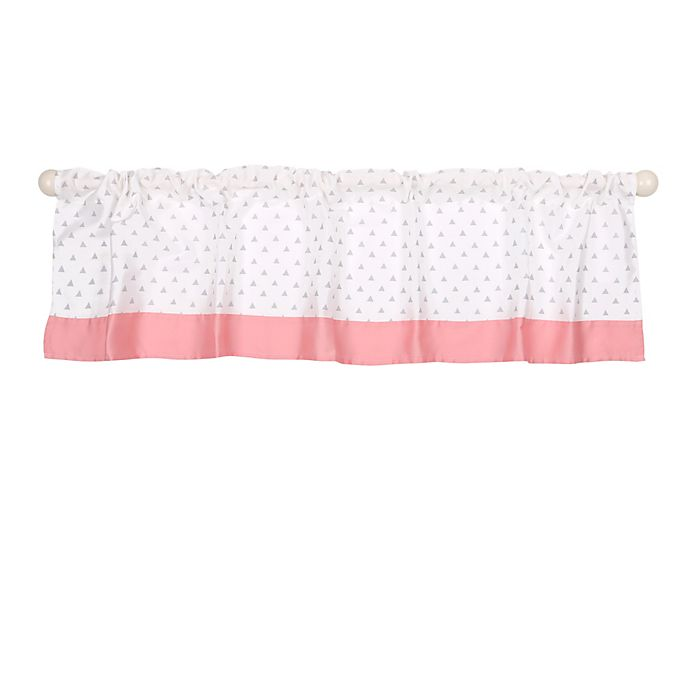 Alternate image 1 for The Peanutshell™  Elephant Window Valance in Coral/Grey