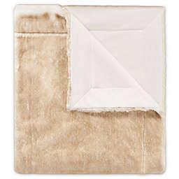 Safavieh Faux Fox Throw Blanket in Light Brown