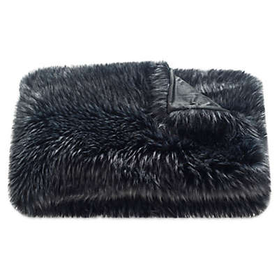 Safavieh Grizzly Throw Blanket in Midnight