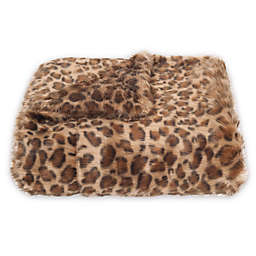 Safavieh Leopard Print Throw Blanket in Leopard
