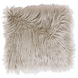 Thro Keller Faux Mongolian 16-Inch Square Throw Pillow