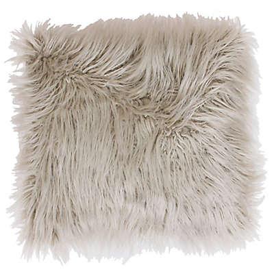Thro Keller Faux Mongolian 26-Inch Square Throw Pillow