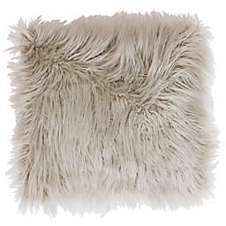 Thro Keller Faux Mongolian 26-Inch Square Throw Pillow