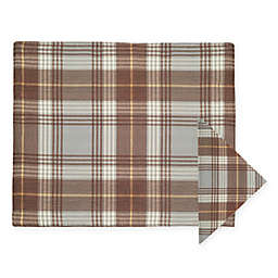 J. Queen New York™ Livingston Plaid Placemat and Napkins  in Mocha