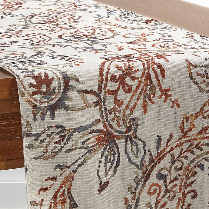 Alternate image 1 for Watercolor 54-Inch Paisley Table Runner