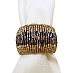 Glass Beaded Ombré Napkin Ring in Gold/Bronze