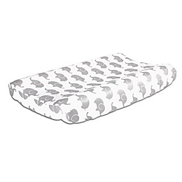 The Peanutshell™  Elephant Changing Pad Cover in Grey