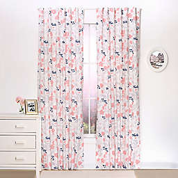 The Peanutshell™  Floral Window Panel Pair in Coral