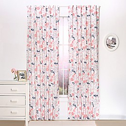The Peanutshell™  Floral Blackout Window Curtain Panel Pair in Coral