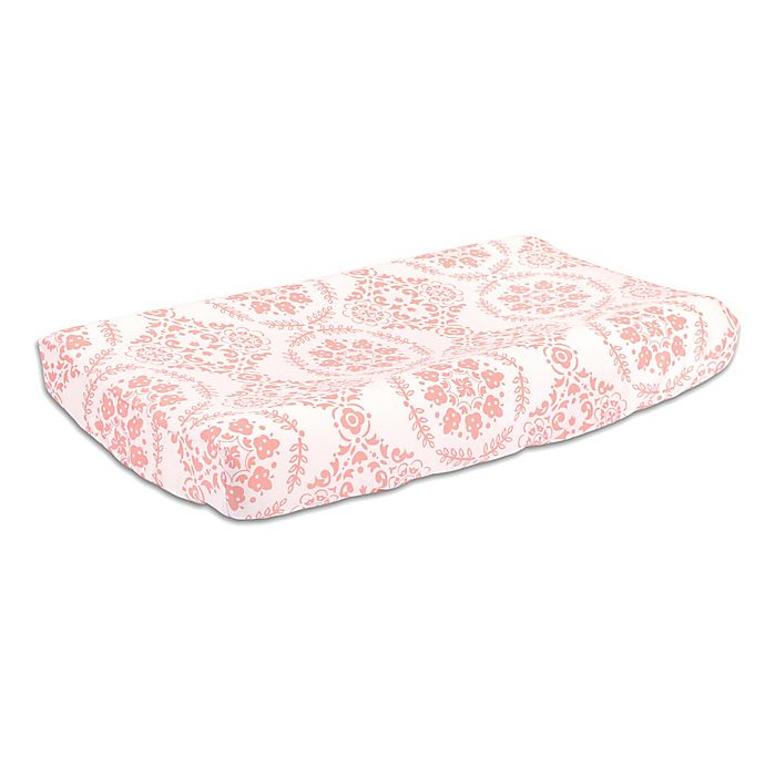 Alternate image 1 for The Peanut Shell™ Medallions Changing Pad Cover in Coral