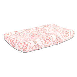 The Peanut Shell™ Medallions Changing Pad Cover in Coral