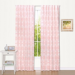 The Peanutshell™  Medallions Blackout Window Panel Pair in Coral