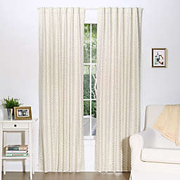 The Peanut Shell™ Chevron Blackout Window Panels in Gold (Set of 2)