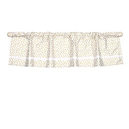The Peanut Shell™ Chevron Window Valance in Gold