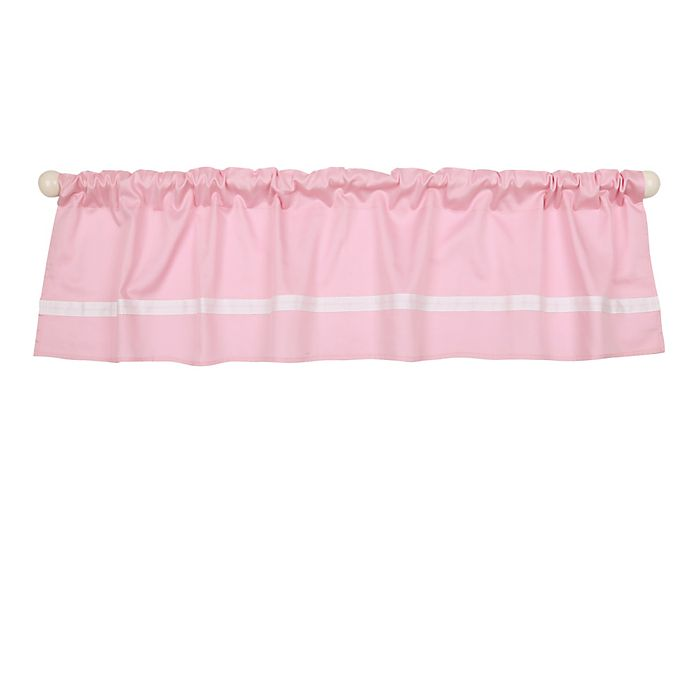 Alternate image 1 for The Peanutshell™  Solid Window Valance in Pink