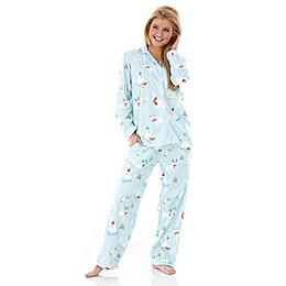 Micro Flannel Fun in the Snow 2-Piece Pajama Set
