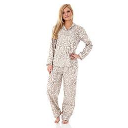 Micro Flannel Leopard 2-Piece Pajama Set