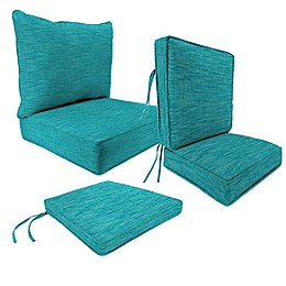 Outdoor Patio Cushions in Remi Lagoon