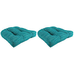 Solid 19-Inch Wicker Chair Cushions (Set of 2)