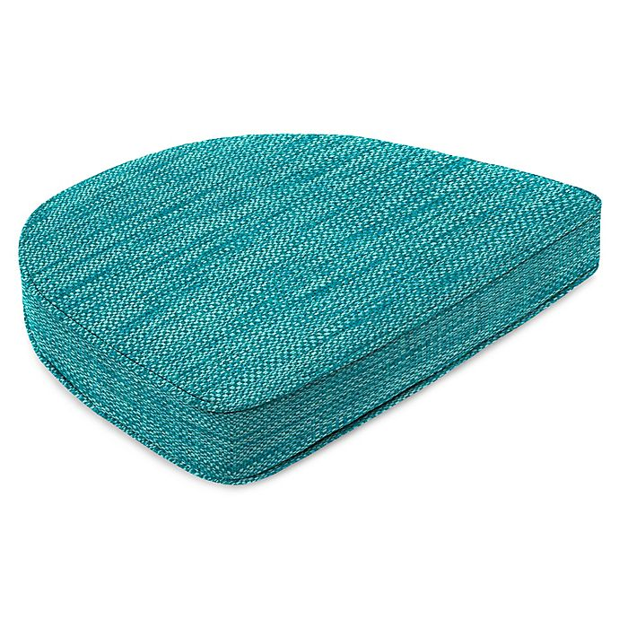 Alternate image 1 for Solid Outdoor Contoured Box Seat Cushion in Remi Lagoon