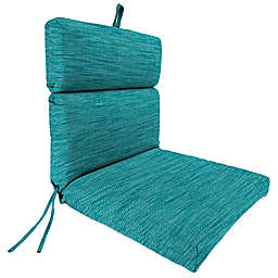 Solid 44-Inch Outdoor Dining Chair Cushion