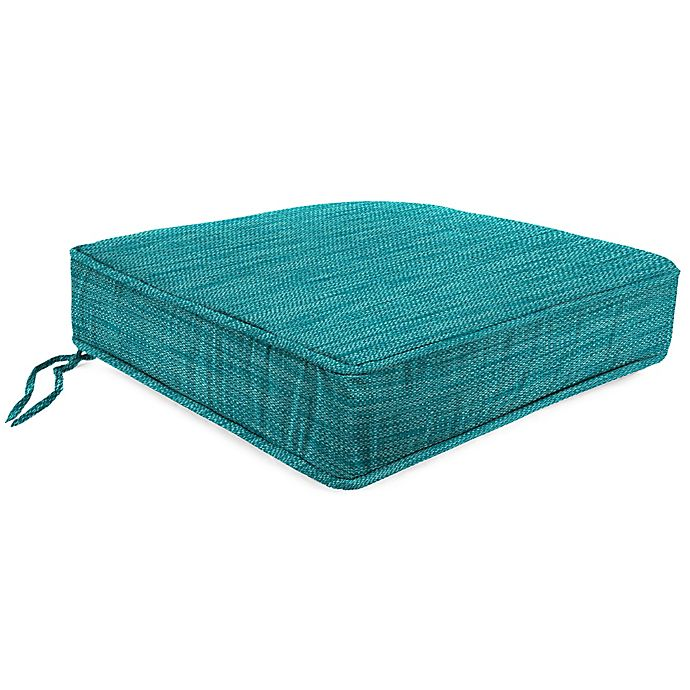 Alternate image 1 for Solid 21.5-Inch Boxed Edge Deep Seat Cushion in Remi Lagoon