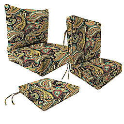 Outdoor Patio Cushions in Hadia Noir