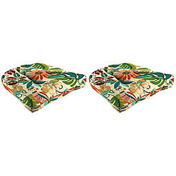 Print 18-Inch Wicker Chair Cushions in Lensing Jungle (Set of 2)