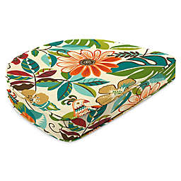 Print Contoured Boxed Seat Cushion in Lensing Jungle
