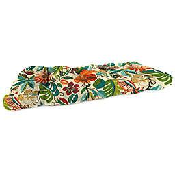 Print 46-Inch Wicker Settee Cushion in Lensing Jungle