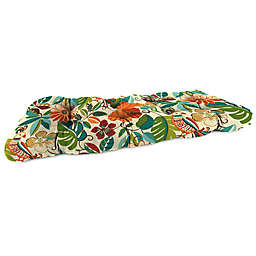 Print 44-Inch Wicker Loveseat Cushion in Lensing Jungle