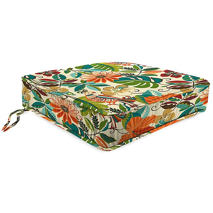 Alternate image 1 for Print 21.5-Inch Boxed Edge Seat Cushion in Lensing Jungle