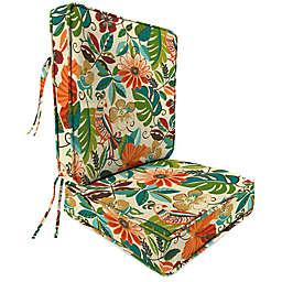 Print 2-Piece Deep Seat Chair Cushion in Lensing Jungle
