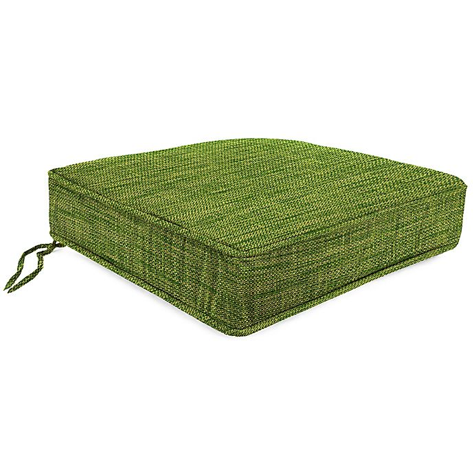 Alternate image 1 for Solid 21.5-Inch Boxed Edge Deep Seat Cushion in Remi Palm