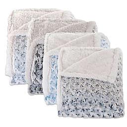 Nottingham Home Plush Flower Fleece Throw Blanket