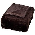 Nottingham Home Faux Fur Throw Blanket in Brown