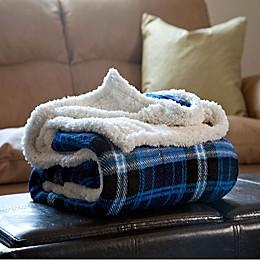 Nottingham Home Plaid Fleece Throw Blanket