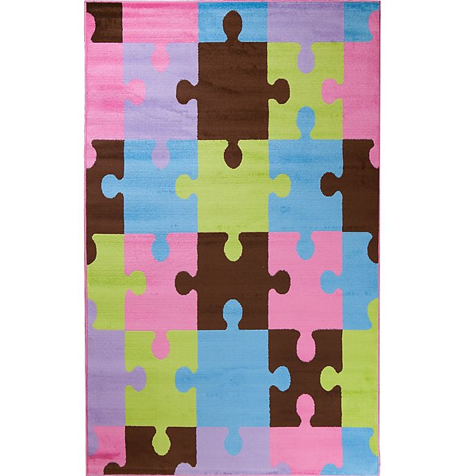 Alternate image 1 for Concord Global Alisa 3-Foot 4-Inch x 5-Foot Jigsaw Puzzle Accent Rug