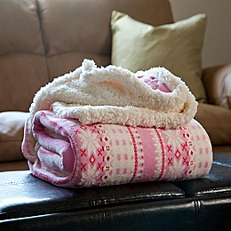 Nottingham Home Snowflake Fleece Throw Blanket