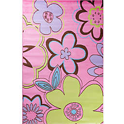 Concord Global Alisa Groovy Flowers Rug in Pink