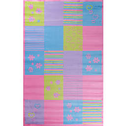 Alisa Patchwork 2-Foot 7-Inch x 4-Foot 1-Inch Accent Rug in Multicolor
