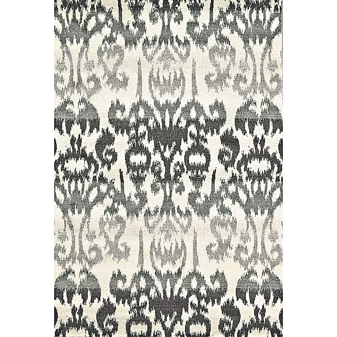 Alternate image 1 for Feizy Mida Ikat 8-Foot x 11-Foot Area Rug in Charcoal