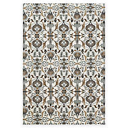 Weave & Wander Perry Contemporary Ornamental Rug in Gray/Brown