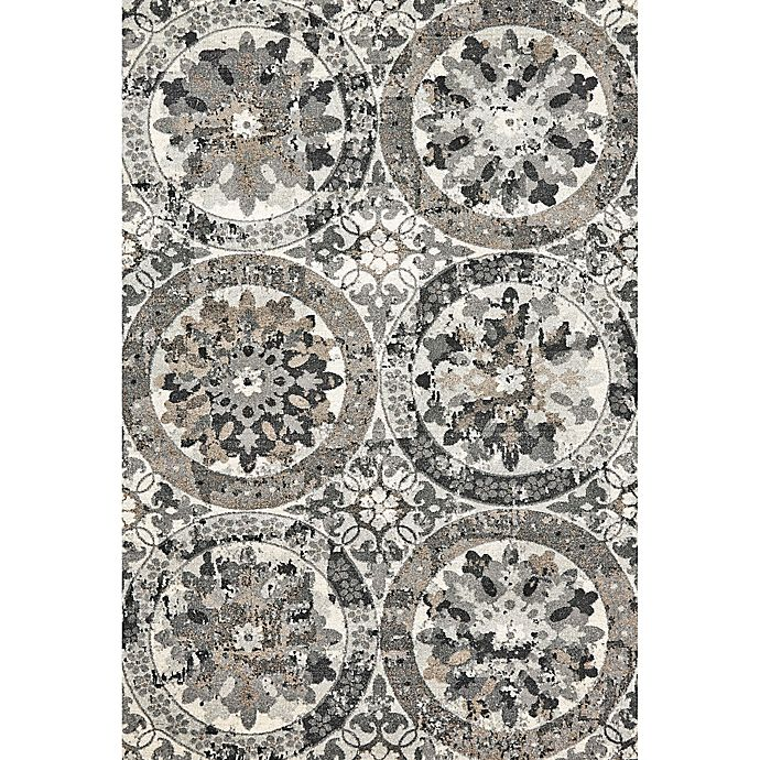 Alternate image 1 for Feizy Mida Medallion 2-Foot 2-Inch x 4-Foot Accent Rug in Stone