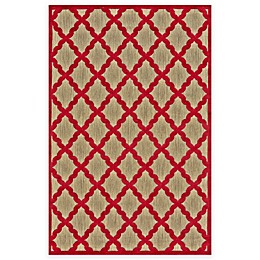Feizy Tahla I Rug in Tan/Red